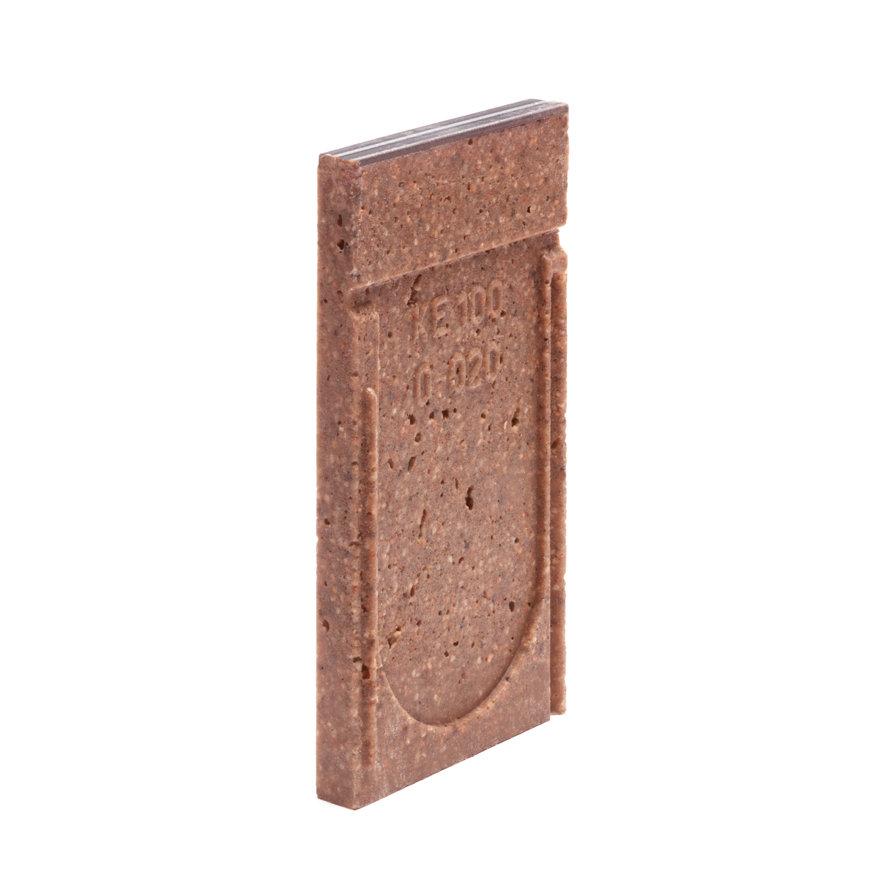 Anrin eindstuk voor lijngoot, type KE-100, gegalvan. rand, zonder uitloop, 25 cm