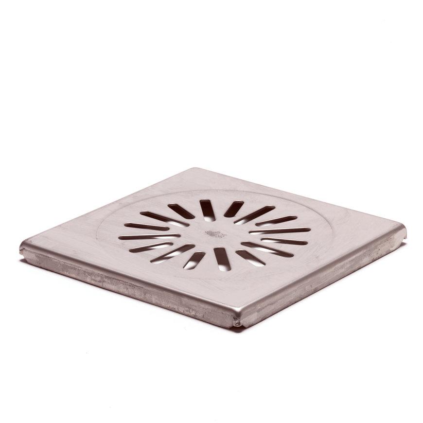 Rvs rooster voor douchesifon/vloerput, AISI 204, d = 2 mm, 150 x 150 mm  default 870x870