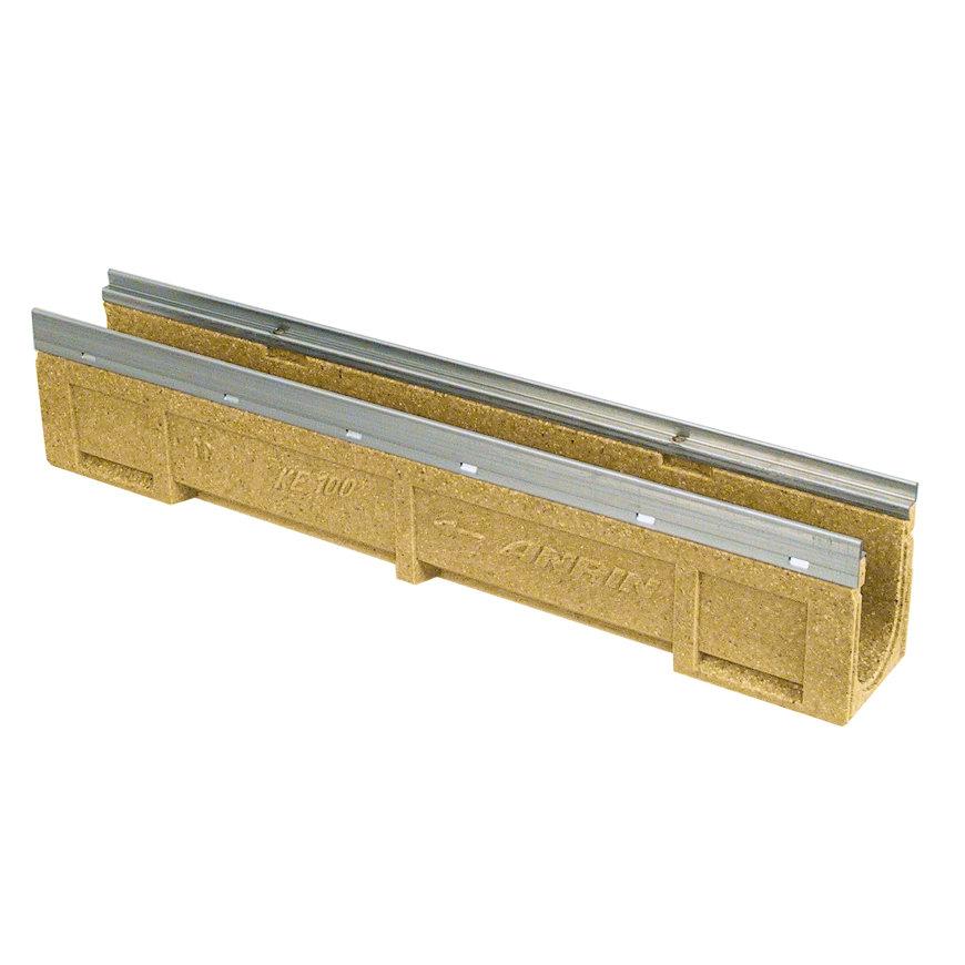 Anrin lijngoot, polyesterbeton, type KE-100, gegalvan. rand, excl. rooster, 50 x 20 cm  default 870x870