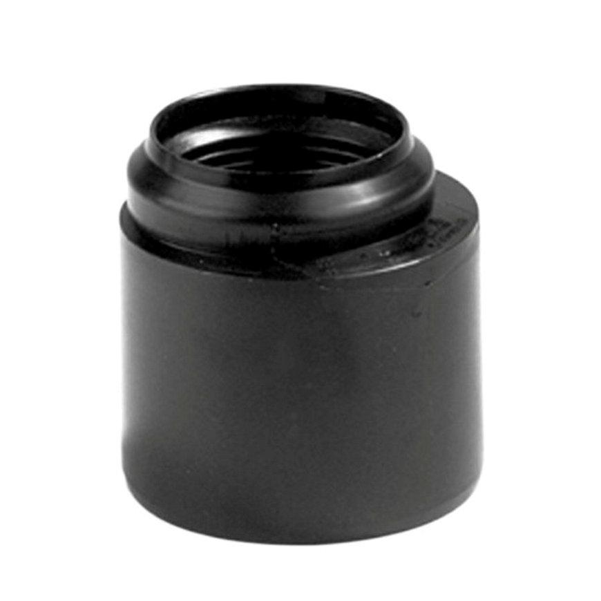 Dyka pp verloopring, excentrisch, zwart, spie x manchet, KOMO, 110 x 40 mm