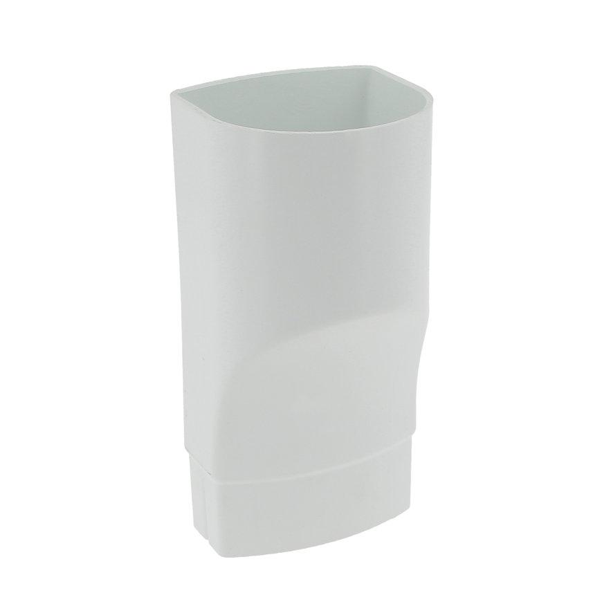 Nicoll Ovation, Fallrohr-Übergangsstück, PVC, ovalx rund, weiß, RAL9010, 90x56x80mm