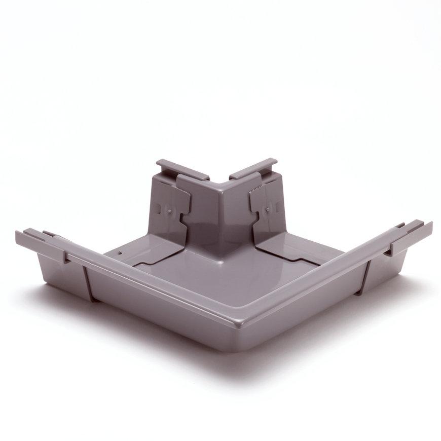S-lon buitenhoekstuk voor bakgoot, pvc, 140 mm, grijs  default 870x870