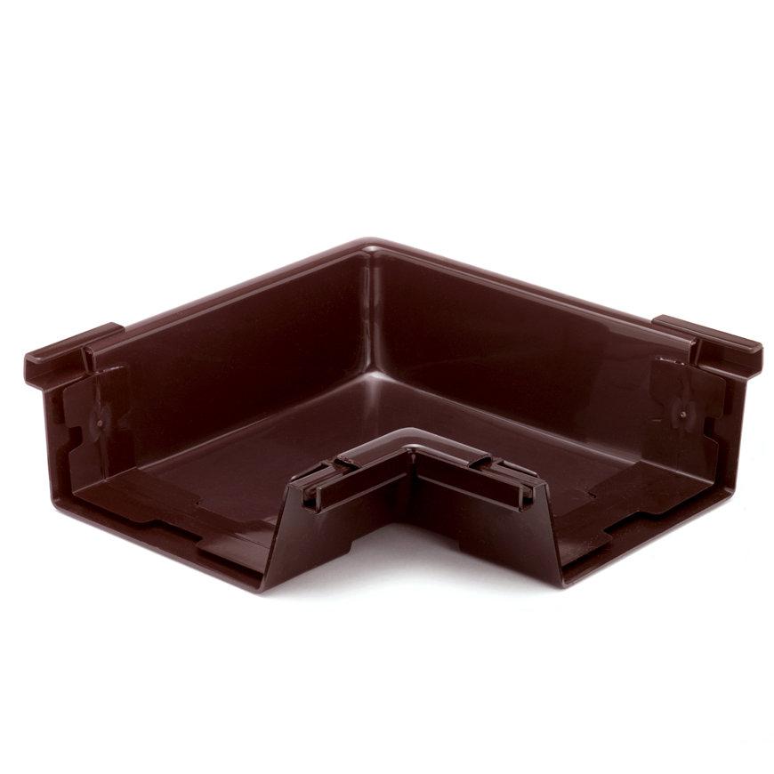 S-lon binnenhoekstuk voor bakgoot, pvc, 180 mm, bruin  default 870x870