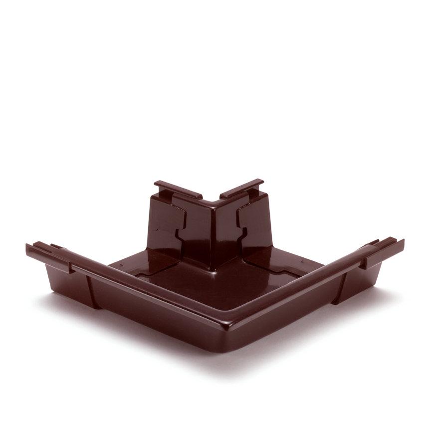 S-lon buitenhoekstuk voor bakgoot, pvc, type 140, bruin