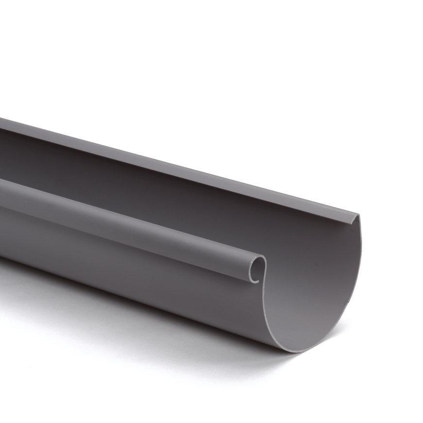 S-lon mastgoot, pvc, grijs, 125 mm, l = 4 m  default 870x870