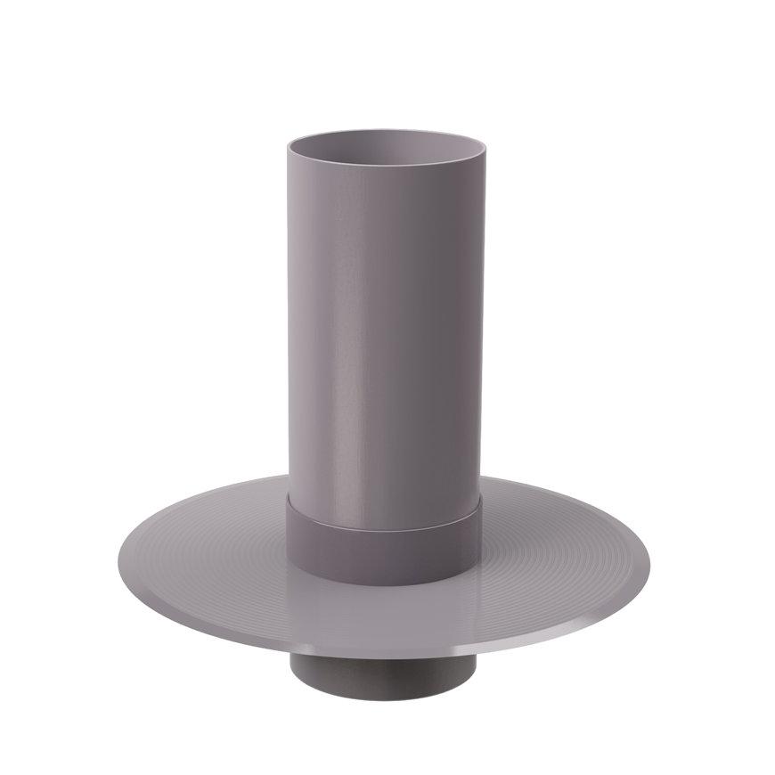 Plakplaat voor dubbelwandige ontluchtingskap, 160 mm