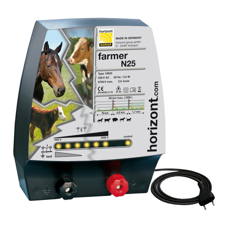 Horizont schrikdraadapparaat, lichtnet, Farmer N25  default 870x870