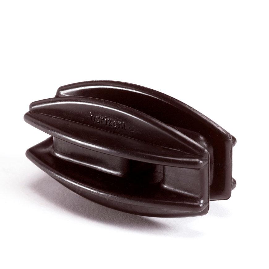 Horizont hoek- / afspanisolator, zwart, abs, 12 stuks  default 870x870