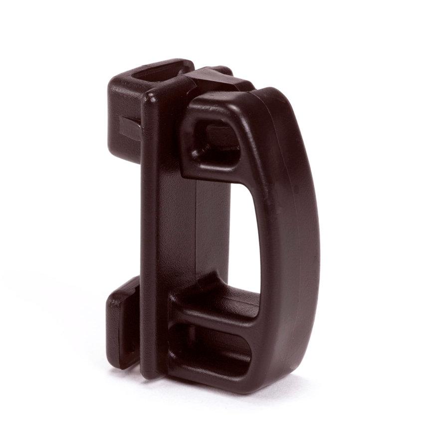 Horizont klemisolator, voor ovale stalen paal, zwart, kunststof, 25 stuks  default 870x870