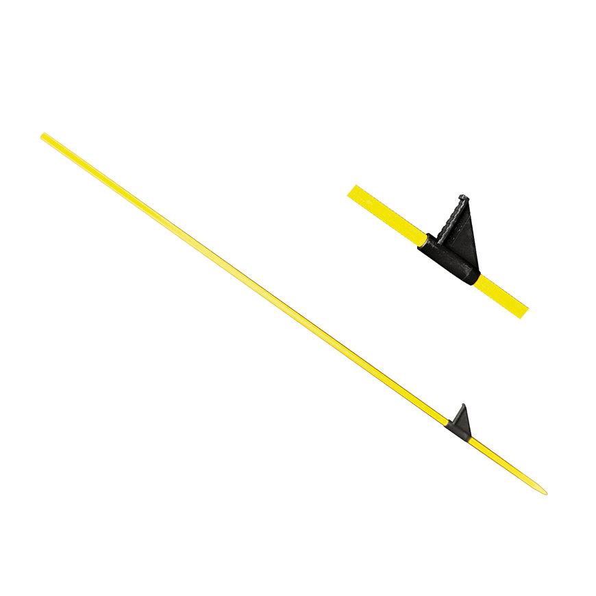 Horizont glasfiber paal voor afrastering, geel, l=125 cm, afrasteringshoogte 105 cm  default 870x870