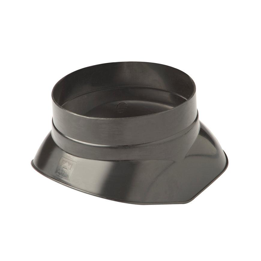 Ubbink dakdoorvoerschaal 131, voor dakdoorvoer 131, voor 5-serie, kunststof, zwart
