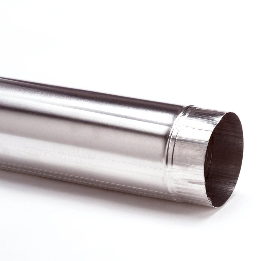 Aluminium pijp, enkelwandig, inwendig x verjongd spie, 100 mm
