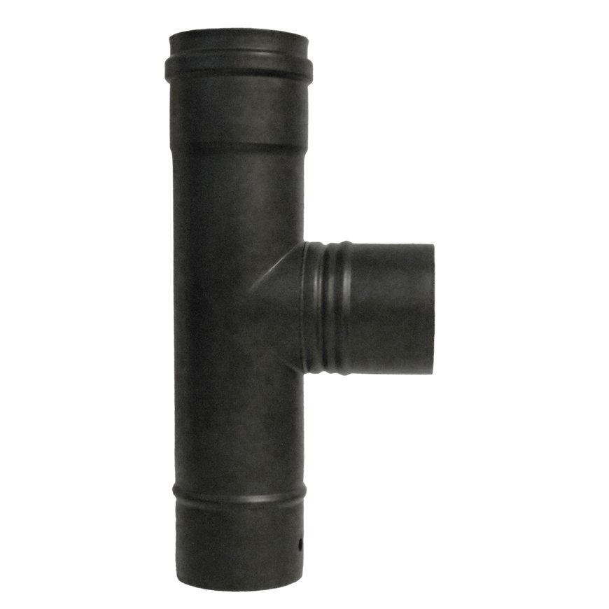 Dinak SW pellets black, rookgasafvoer T-stuk 90°, type 031, 80 mm  default 870x870