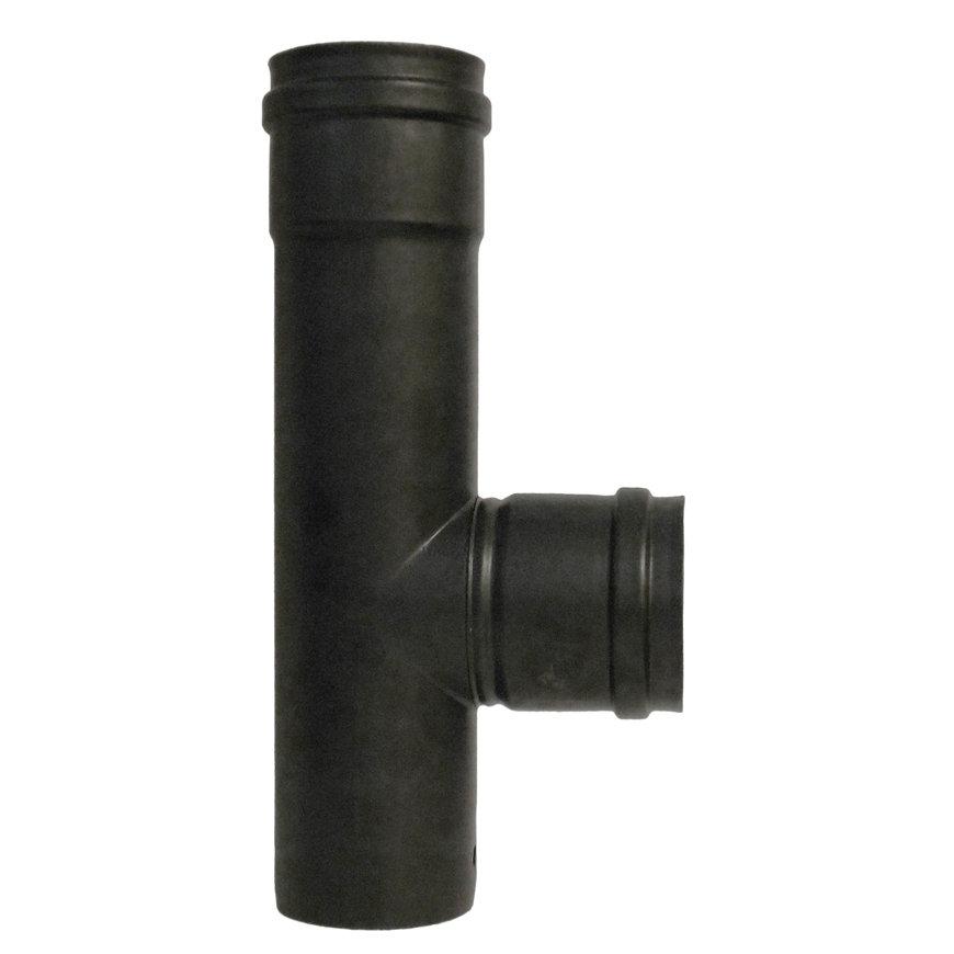Dinak Deko hout, rookgasafvoer T-stuk 90°, met V-vertakking, type 31F, 200 mm