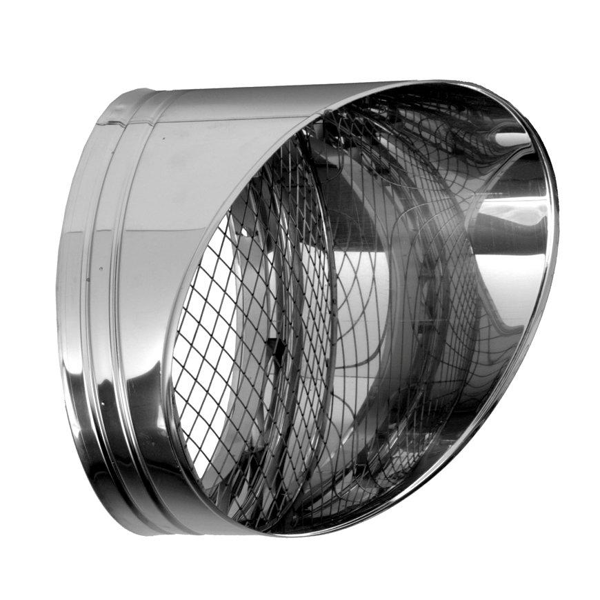 Dinak DW, verstelbare horizontale rookgasafvoer, type 015, 80 mm  default 870x870