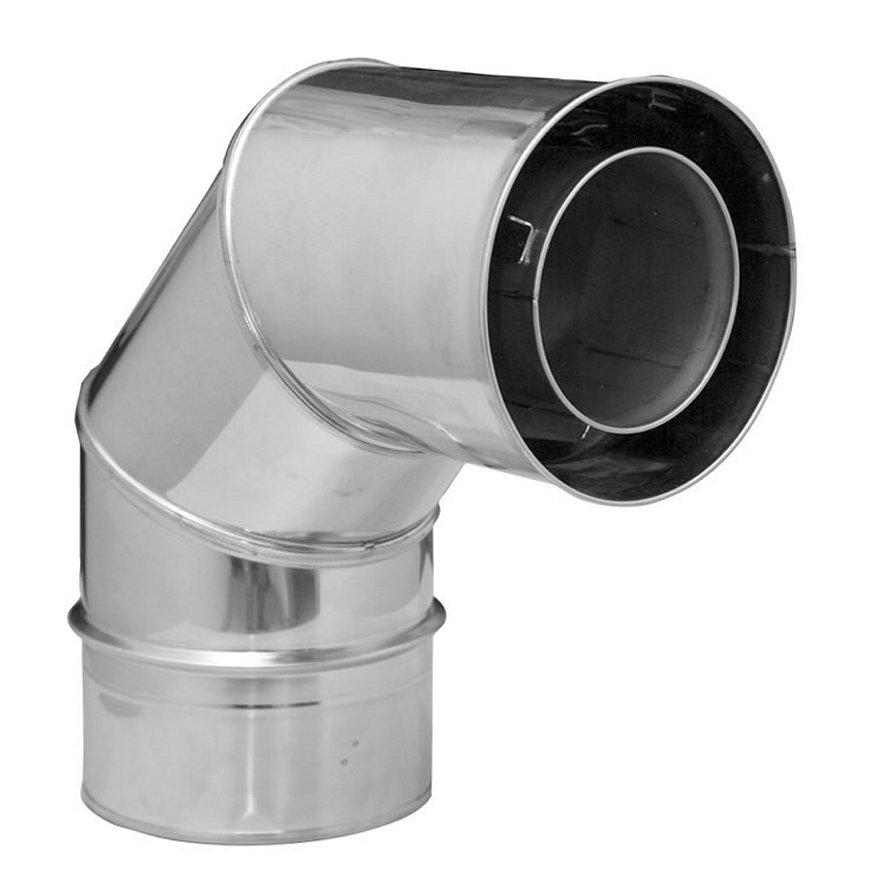Dinak Diflux, dubbelwandige rookgasafvoerbocht 90°, type 433, 100/150 mm  default 870x870