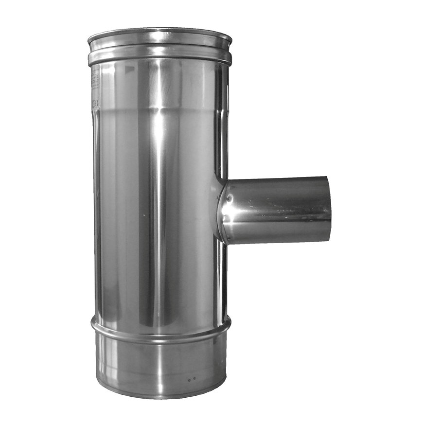 Dinak Diflux pellets, rookgasafvoer T-stuk 90°, met V-vertakking 60 mm, type 31E, 130/200 mm  default 870x870