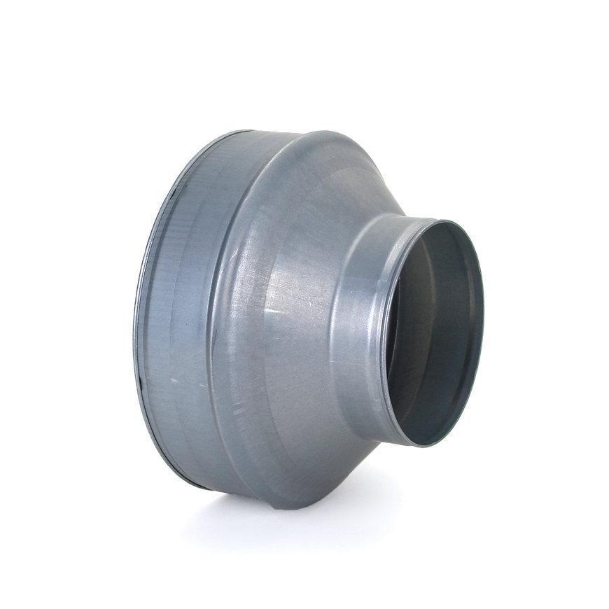 Spiraliet verloopstuk, kort model, 2x verjongd spie, 250 x 150 mm