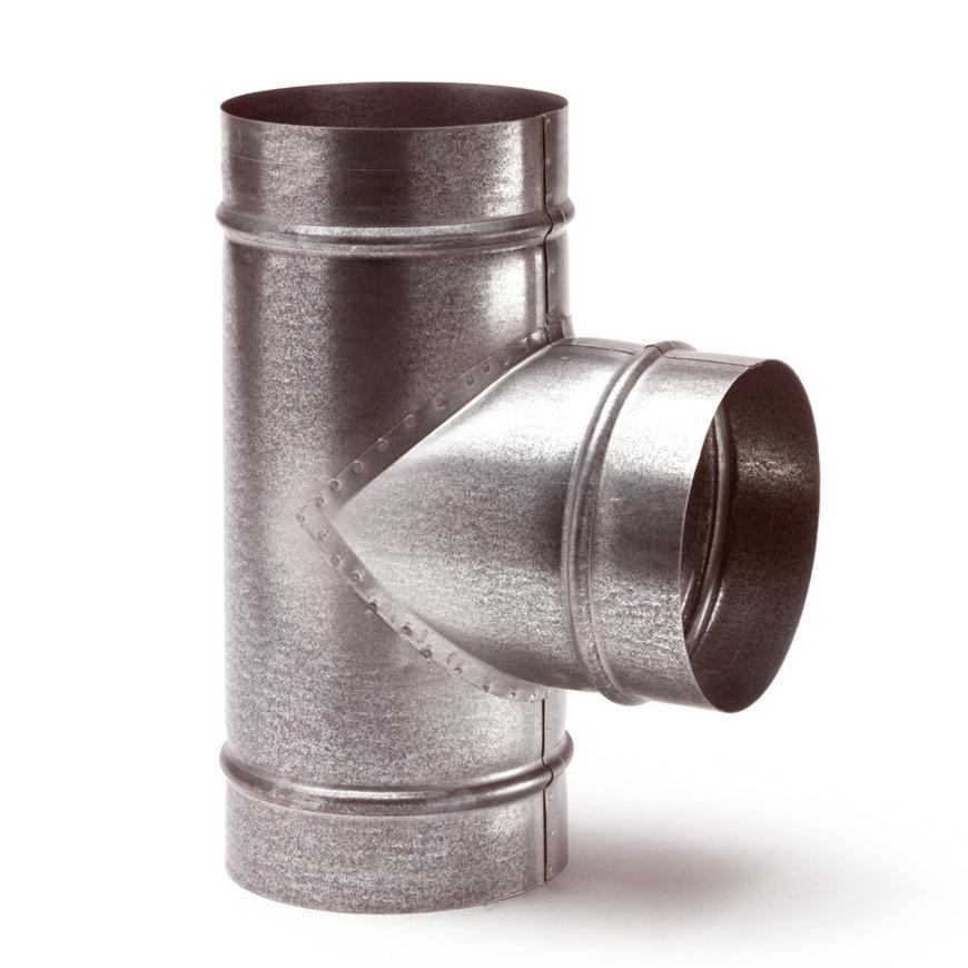 Spiraliet T-stuk 90°, 3x verjongd spie, 150 mm  default 870x870