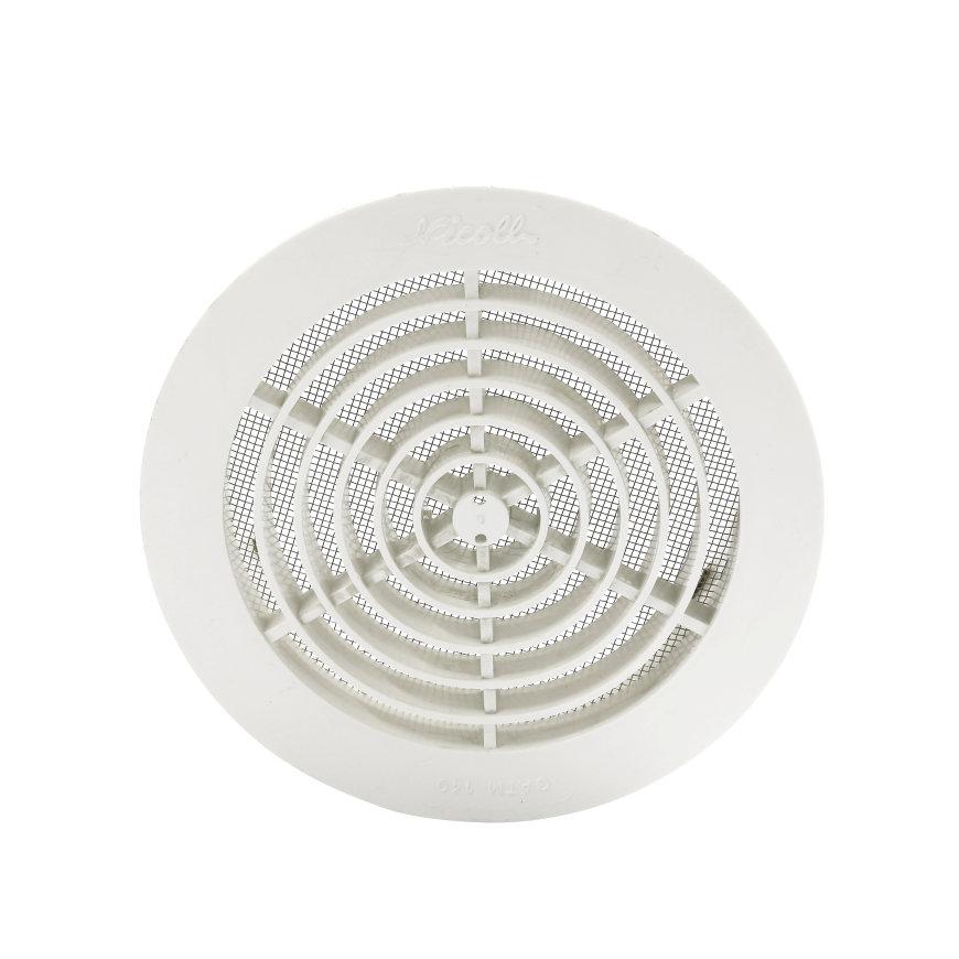 Nicoll pvc ventilatierooster met vliegengaas, Ø 80 mm