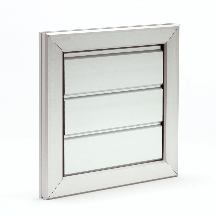 Aluminium overdrukrooster, geanodiseerd, 205 x 205 mm