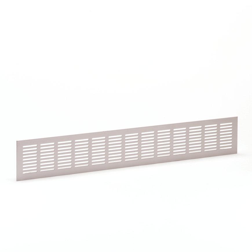 Aluminium ventilatiestrip, geanodiseerd, blank, 500 x 100 mm  default 870x870