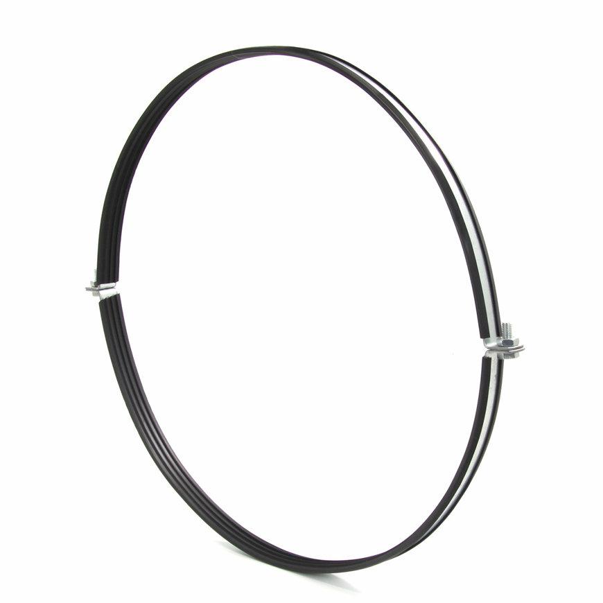 Spiraliet ophangbeugel, met rubber inlage, 400 mm  default 870x870