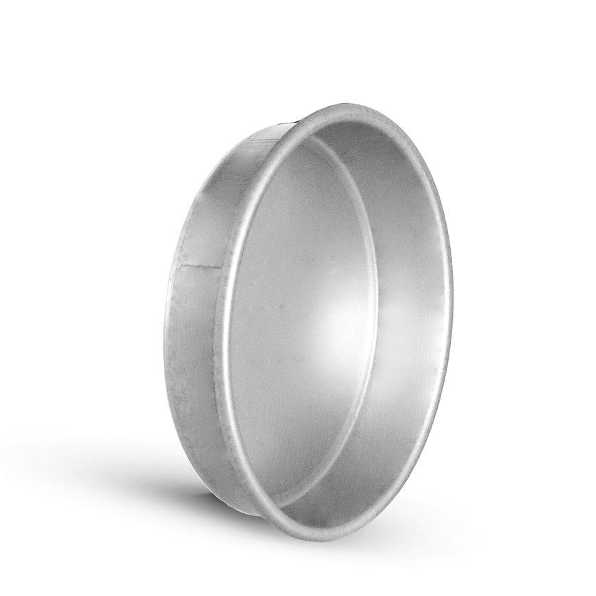 Spiraliet eindkap, geperst, voor hulpstuk, 125 mm