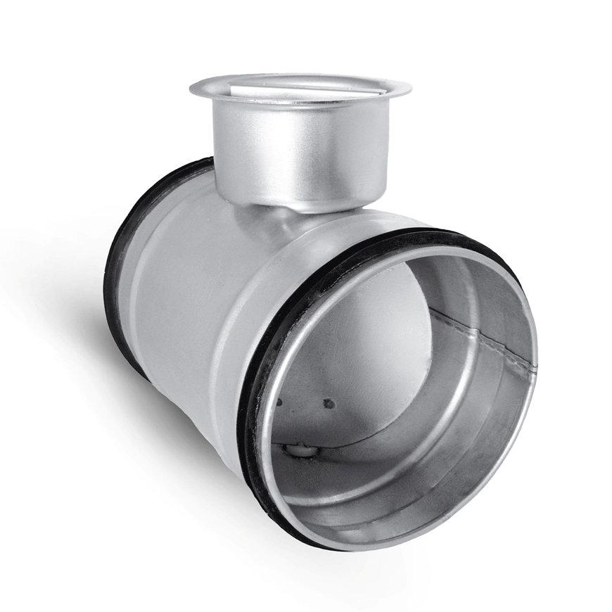 Spiraliet regelklep, met epdm ring, 2x verjongd spie, 250 mm