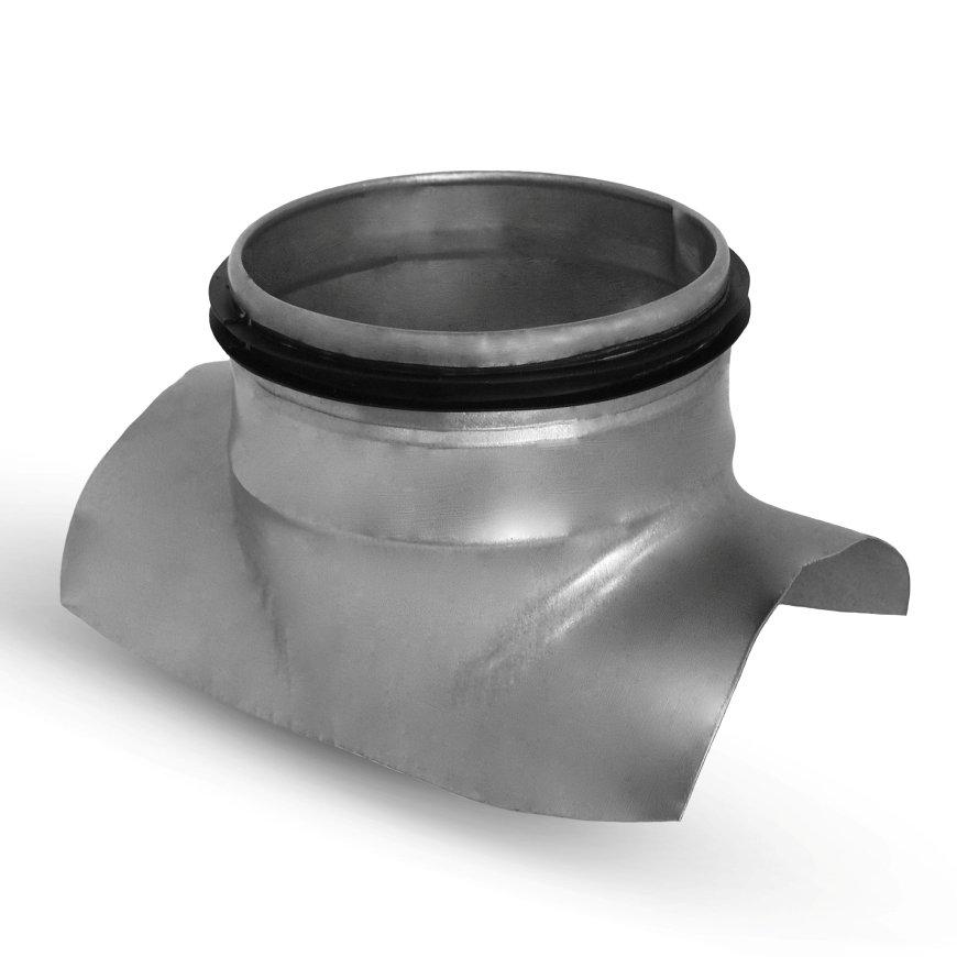 Spiraliet zadelstuk, geperst, met epdm ring, 100 mm x 100 mm  default 870x870