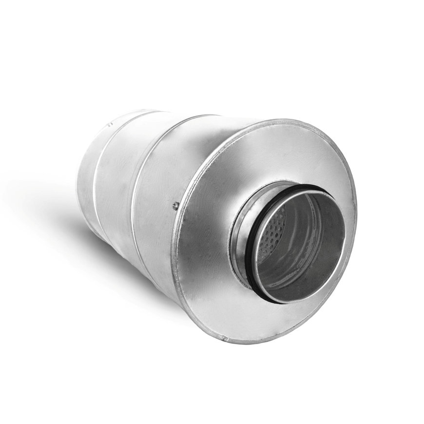 Spiraliet geluiddemper met 50 mm glaswol, 200 mm, l = 500 mm  default 870x870
