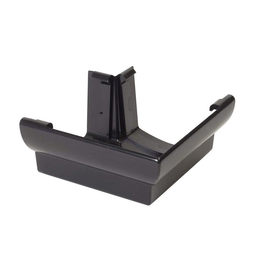 Nicoll Ovation buitenhoekstuk 90°, pvc, zwart, RAL 9011, 125 mm  default 870x870