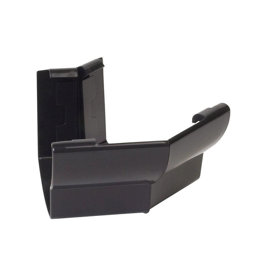 Nicoll Ovation buitenhoekstuk 135°, pvc, zwart, RAL 9011, 125 mm  default 870x870