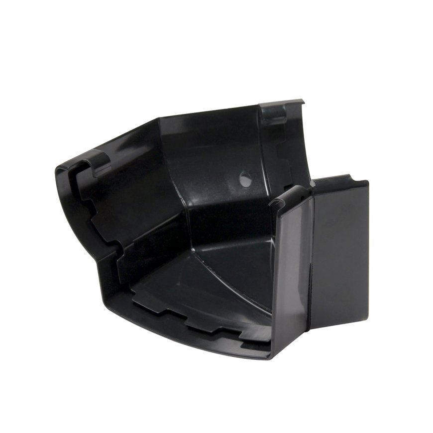 Nicoll Ovation buitenhoekstuk 135°, pvc, zwart, RAL 9011, 170 mm  default 870x870