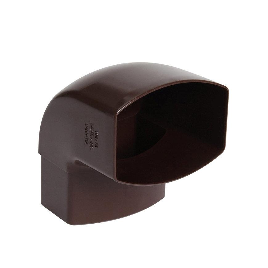 Nicoll Ovation, hwa bocht 87°, pvc, inwendig lijm x verjongd spie, bruin, RAL 8017, 105 x 76 mm  default 870x870
