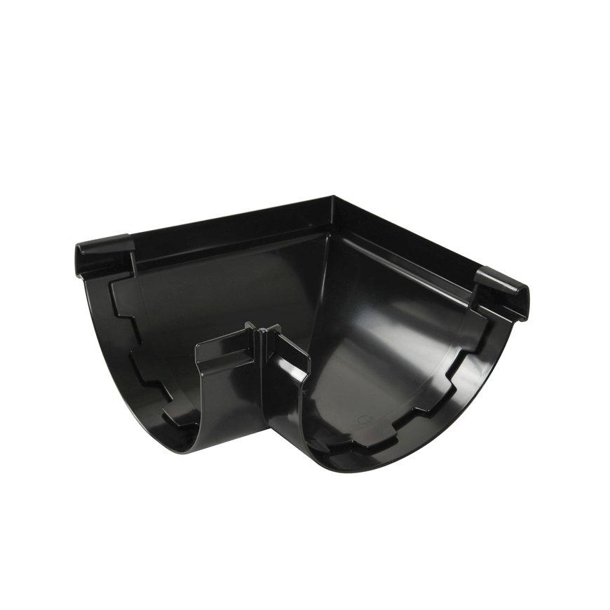 Nicoll Vodalis buitenhoekstuk 90°, pvc, zwart, RAL 9011, 140 mm  default 870x870