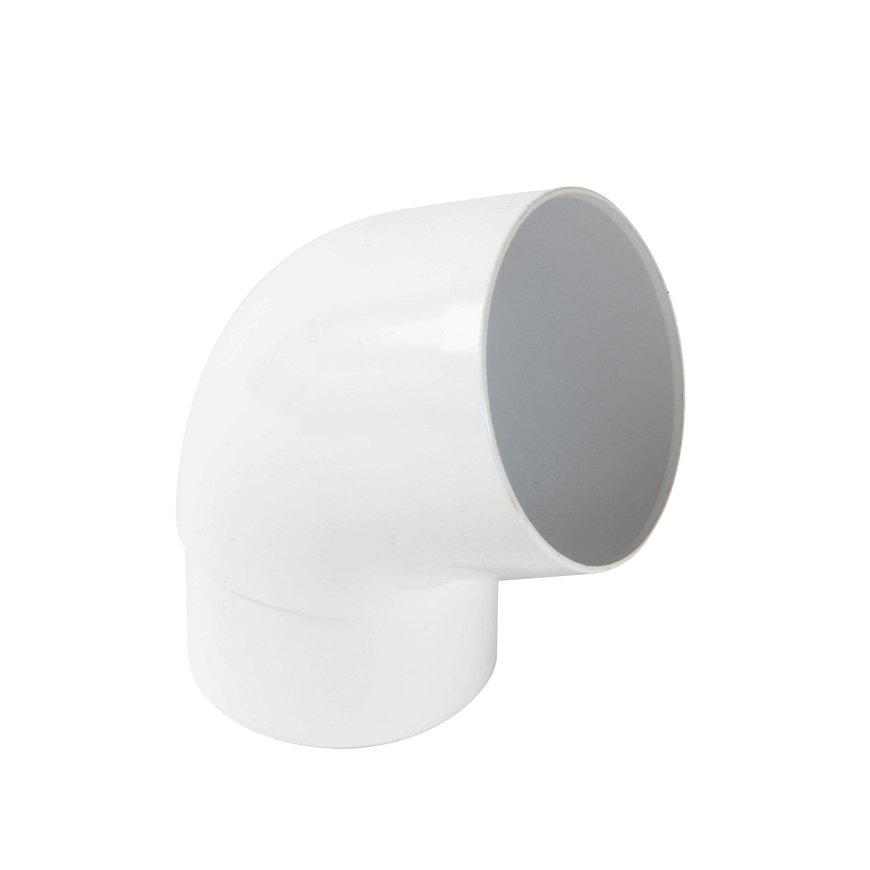 Nicoll hwa bocht 67°, pvc, inwendig lijm x verjongd spie, wit, RAL 9010, 80 mm  default 870x870