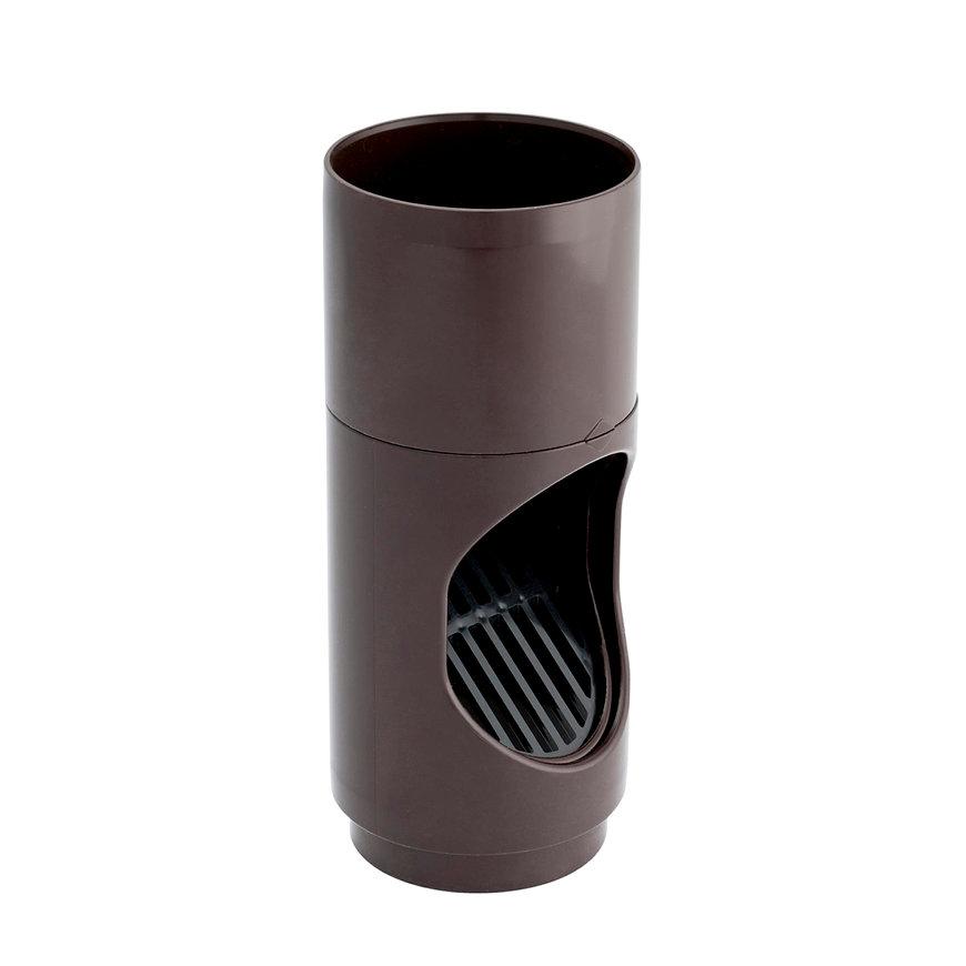 Nicoll hwa bladscheider, pvc, bruin, RAL 8017, 80 mm