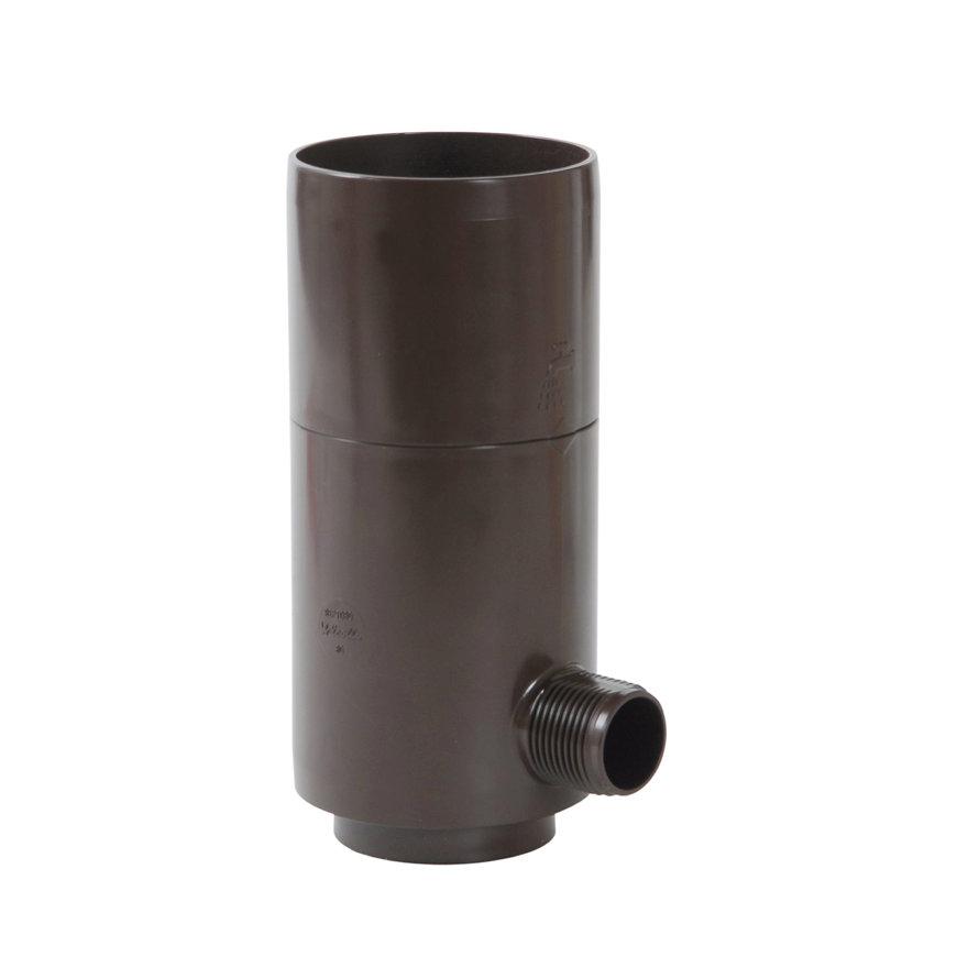 Nicoll hwa regenton automaat, pvc, bruin, RAL 8017, 80 mm