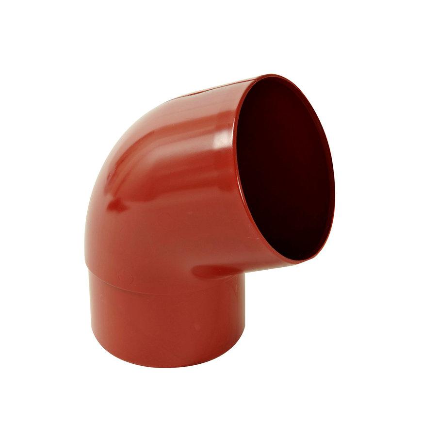 Nicoll hwa bocht 67°, pvc, inwendig lijm x verjongd spie, rood, RAL 3004, 80 mm