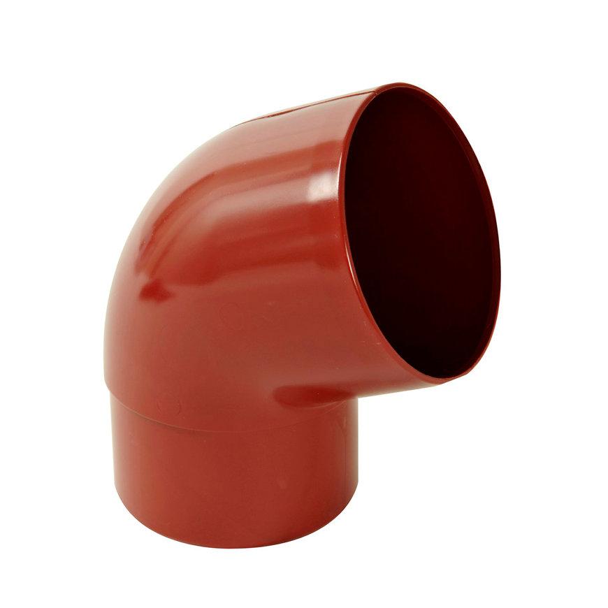 Nicoll hwa bocht 67°, pvc, inwendig lijm x verjongd spie, rood, RAL 3004, 100 mm