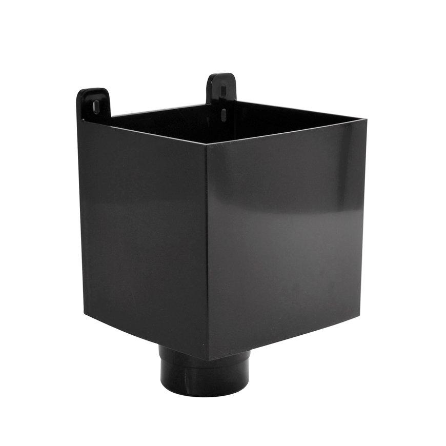 Nicoll hwa vergaarbak, pvc, zwart, RAL 9011, 80 mm  default 870x870