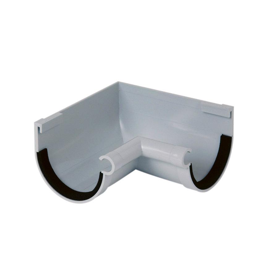 Nicoll Innenwinkel 90°, PVC, Klemmverbindung, hellgrau, RAL7047, 70 mm