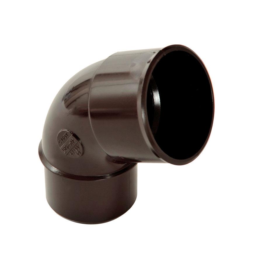 Nicoll hwa bocht 67°, pvc, inwendig lijm x spie, bruin, RAL 8017, 50 mm