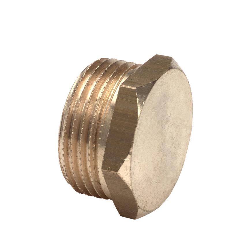 """Bonfix messing eindkap, met o-ring t.b.v. stopkraan, 1x buitendraad, ¼"""""""
