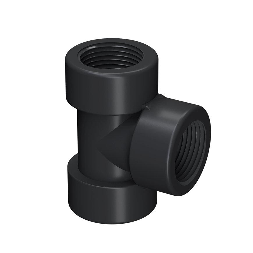 """Self-Seal pp T-stuk 90°, 3x binnendraad, 6 bar, 2"""" x 2"""" x 2""""  default 870x870"""