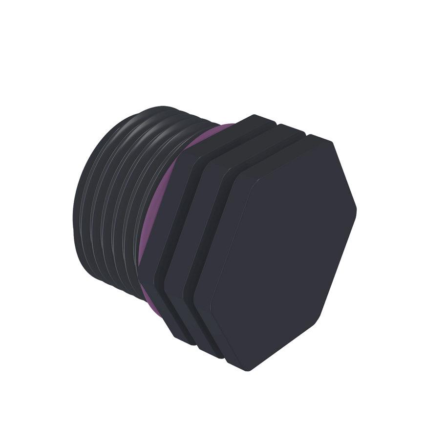 """Self-Seal pp stop met rand, 1x buitendraad, 6 bar, ¾""""  default 870x870"""