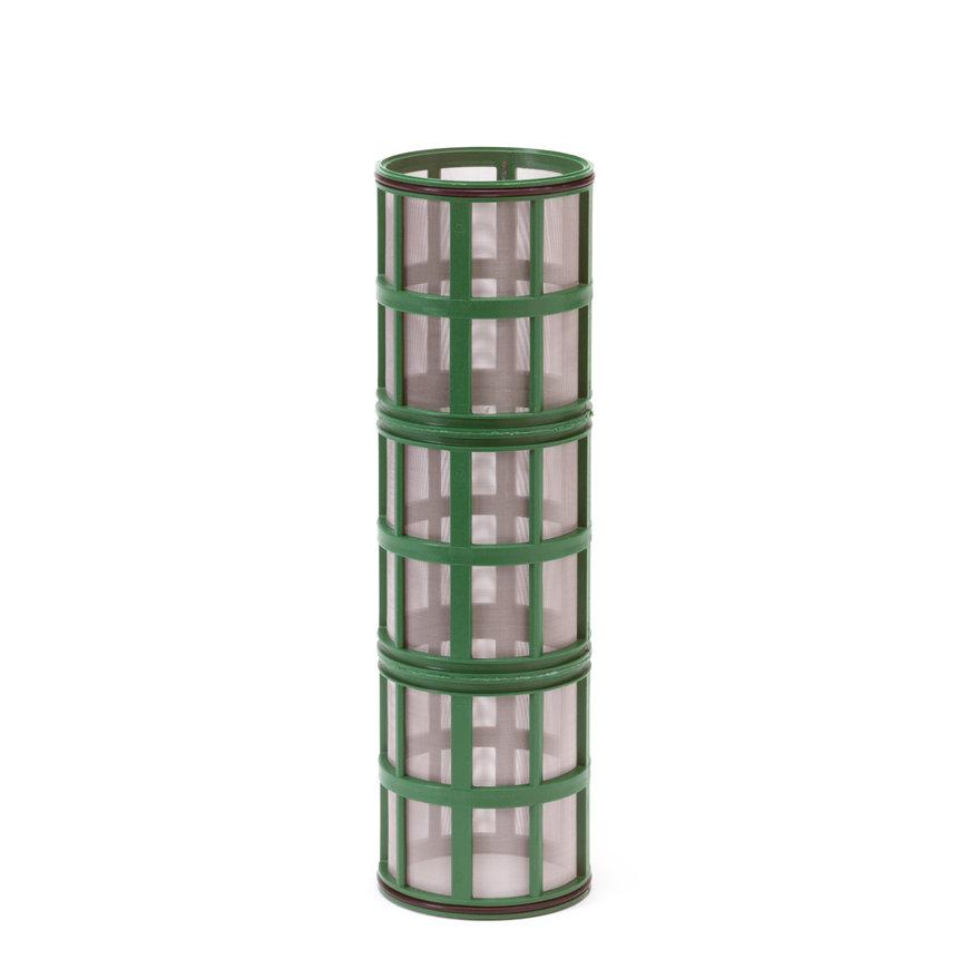 """Amiad cil.zeef tbv kunststof filter 3"""", d x l = 100 x 370 mm, zeefperf. 0,50 mm, groen"""