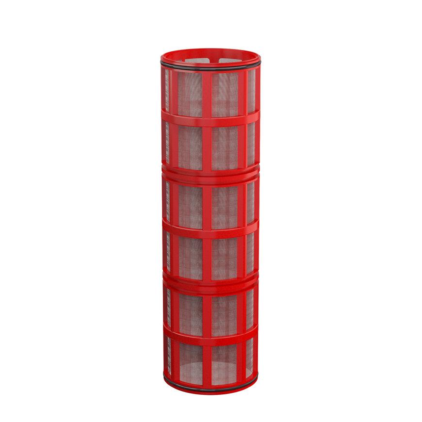 """Amiad cil.zeef tbv kunststof filter 3"""", d x l = 100 x 370 mm, zeefperf. 0,13 mm, rood  default 870x870"""