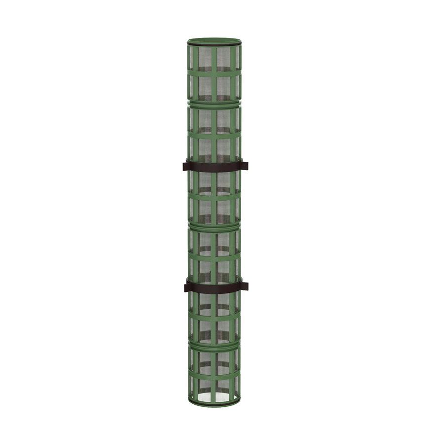 """Amiad cil.zeef tbv stalen filter 4"""", d x l = 100 x 750 mm, zeefperf. 0,50 mm, groen"""